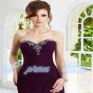 chiffon Formal Ball Long Wedding/Evening Dress Bridal Party Gown Prom custom