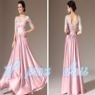 New V-Neck Half Sleeve Evening Formal Prom Party Cocktail Dresses Wedding Gowns