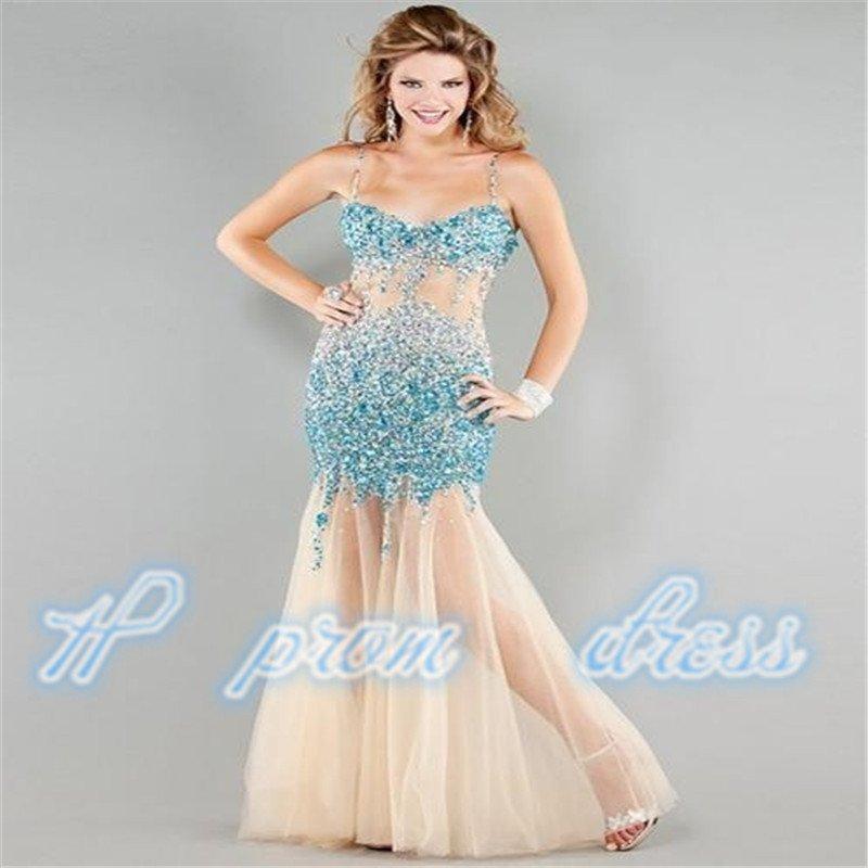 2015 Sexy Luxury Beading Handmade Tulle Prom Homecoming Evening Dresses Custom