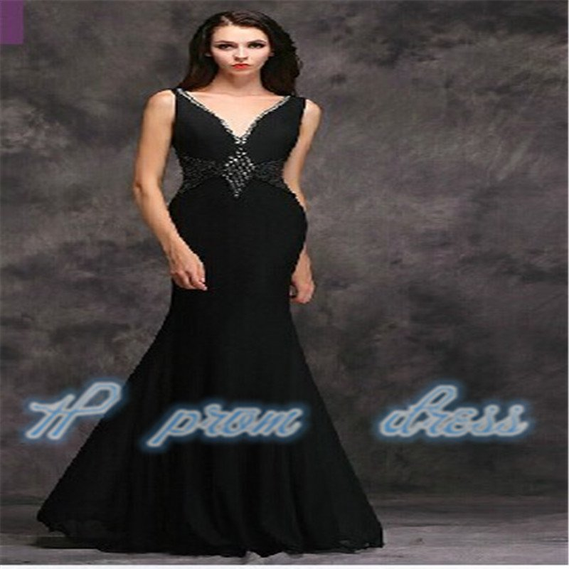 New Black Applique Formal Evening Ball Prom Cocktail Dresses evening dress