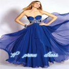 Elegant A-line Chiffon Wedding Party Ball Evening Gown Formal Prom Dress