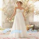 Blue Lace Applique Long Chiffon Evening Dress Formal Prom Wedding Party Dress