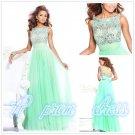 Green Chiffon Bead Prom Gown Evening Dress Formal Dress