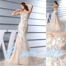 2015 Sexy Mermaid Evening Dresses Formal Gowns Prom Dress Plus Size Beads Custom