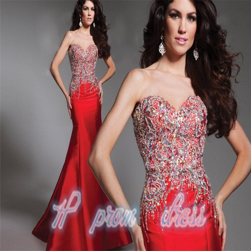 2015 Red Formal Prom Evening Party Cocktail Homecoming Wedding dress Bridal Gow