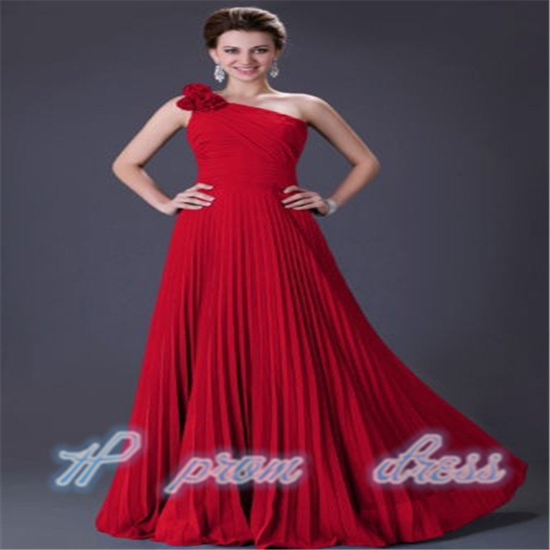 Red One shoulder Bridesmaid Party Formal Cocktail Evening Homecoming Custom Size