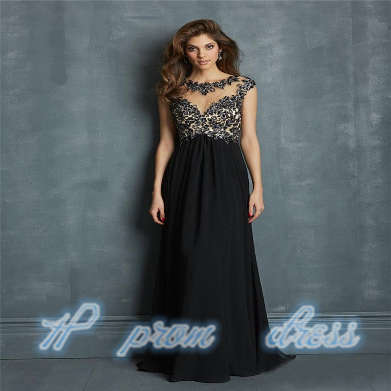 2015 Black New Long Chiffon Bridesmaid Evening Formal Party Ball Gown Prom Dress