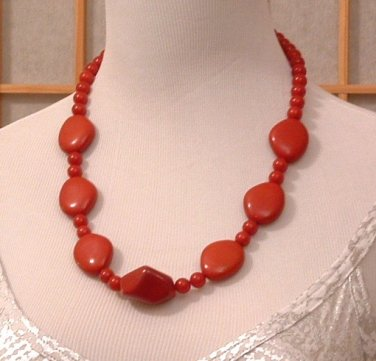 Necklace Red Chunky