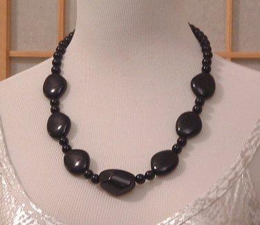 Necklace Black Chunky