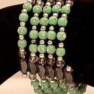 Bracelet Magnetic Hematite Wrap Bracelet-Necklace Light Green