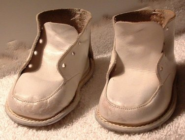 Baby Shoes Trainers Vintage 1960s White