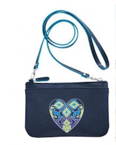 Brighton Summer Heart Navy Blue Mini Bag Cross Body Purse D23458 New