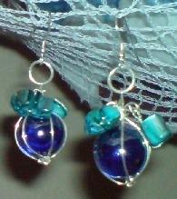 Blue Baubles Earrings