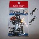 Eagle Claw BARREL SWIVELS BLACK sz 3/0   2 packs of 12
