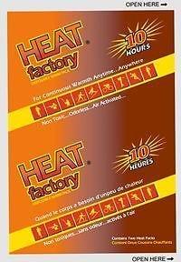 10 X HEAT FACTORY  MINI WARMERS 2/PACK