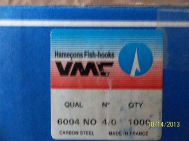 VMC CARBON STEEL SALMON HOOKS SIZE 4/0 NON OFFSET 30 PCS FREE USA SHIPPING