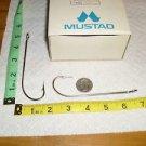 MUSTAD SQUID HOOKS SIZE 10/0 NICKEL PLATED 100 PCS