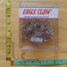 FLUKE LONG SHANK NICKEL FISH HOOK SIZE 4/0 EAGLE CLAW 35 PCS FREE USA SHIPPING