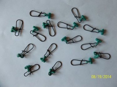 FISHING LINE SINKER SLIDES FOR BRAID 50 PCS GREEN / BLACK FREE USA SHIPPING