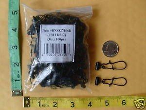 Fish Finders Line Sinker Slides bag of 100 BLACK GOOD FOR BRAID