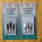 6 LURES Snapper Zapper Spoon Kastmaster Style 1/16 OZ EACH FREE USA SHIPPING