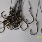 """Stainless Steel Leader 10"""" with Australian Octopus Circle hook 8/0 PCS 12"""