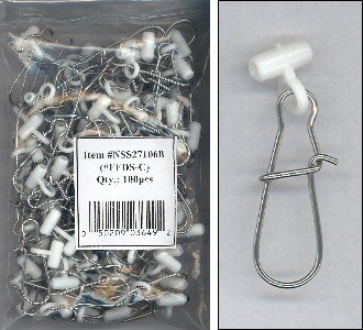 Fish Finders Line Sinker Slides bag of 100 WHITE HEAVY DUTY