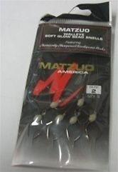 4 X MATZUO WALLEYE SOFT GLOW BEAD SNELLS SIZE 2 BLACK CHROME 6/PACK TOTAL 24 PCS