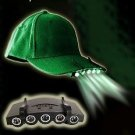 5 LED CAP LIGHT CLIP-ON FISHING HUNTING CAMPING & MORE