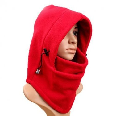 New Double Layer Thicken Warm Full Face Cover Winter Ski Mask Beanie Hat RED