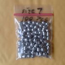 REMOVABLE SPLIT SHOT SINKERS SIZE 7 LOT OF 120 PCS LEAD