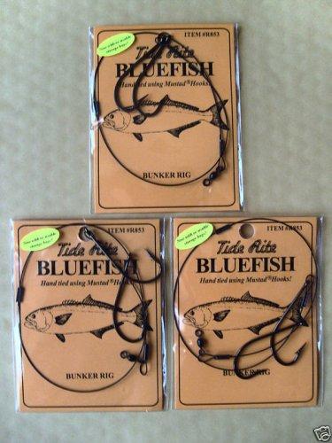 MUSTAD HOOKS BLUEFISH BUNKER RIG 6 PACKS FREE USA SHIPPING
