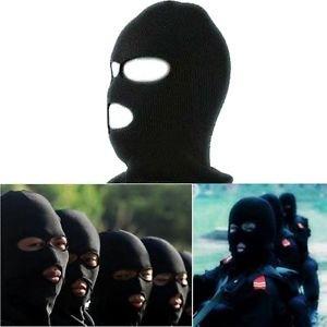 Unisex Winter Warm Full Face Cover Ski Ninja Mask Beanie Hat Cap Black