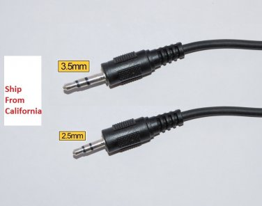 2.5mm to 3.5mm male Audio Aux Stereo Cable Tritton XBOX live Talkback