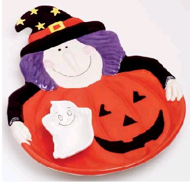 WITCH PLATE WITH GHOST DIP CUP