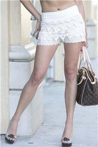 Womens Large Laced Shorts Lined Eyelet Lace Shorts Soul of the Sea ~~~~~~~~