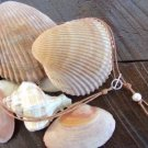 Pearl and Leather Necklace Large Hole Pearls Soul of the Sea Made In The USA N129 ~~~~~~~~~