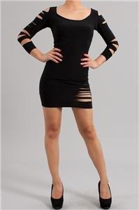 Womens Medium Dress NEW Razor Cut Style Medium Black Dress Made in U.S.A.