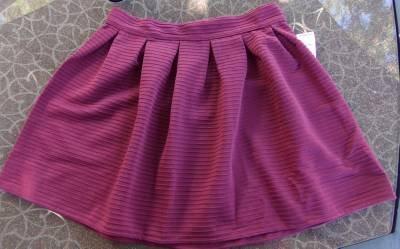 Bethany Mota Small Skirt NWT Junior Womens Small Mini Shirt Burgandy CUTE ~~~~~~