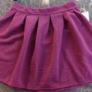 Bethany Mota Small Skirt NWT Junior Womens Small Mini Shirt Burgandy CUTE ~~~~~~