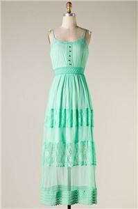 Womens Large Dress NWT Womens Large Mint Maxi Dress Dress Soul of the Sea