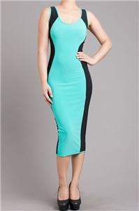 Womens Large Dress NWT Womens Mint / Black Two Toned Dress