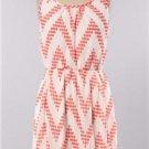 Womens Medium Dress NWT Medium Coral Chevron Dress Lined