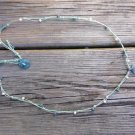 Knotted Hemp Rope Necklace Greek Green Patina Sand Dollar Charm 539 ~~~