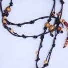 Gilligan's Wood and Leather Necklace Handmade in the USA Original Unique ~~~~~