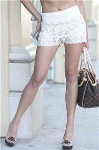 Womens Large Laced Shorts NWT Lined Eyelet Lace Shorts Gilligan's Boutique ~