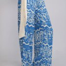 Womens Small Pants NEW NWT Tribal Pattern Blue Pants 30 x 31 Gilligans