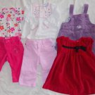 Infant Size 6 Months Top Pant Dress Outfits 6-9 Months 6 Pieces Ex Cond ~~~~
