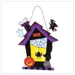 34729 stained glass Halloween wall plaque