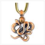38225 abstract serpintine pendant